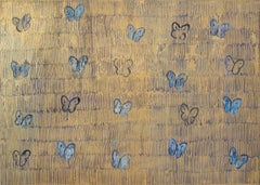 "Hunt Slonem ""Starr Night"" Blue Butterflies"