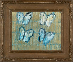 "Hunt Slonem ""Sulphers"" Blue Butterflies"