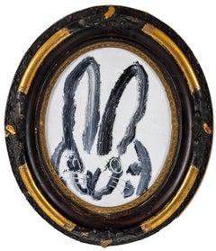 """Hunt Slonem """"Susanne"""" Spotted Bunny"""