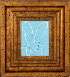 "Hunt Slonem ""Tangiers"" Light Blue Diamond Dust Bunny"