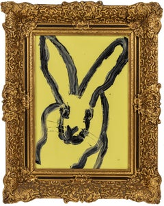 "Hunt Slonem ""Ted"" Yellow Bunny"