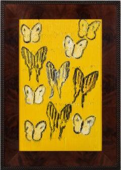 "Hunt Slonem ""Tiger Swallowtail & Zebra"" Yellow Butterflies"