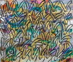 "Hunt Slonem ""Totem Tuesday"" Rainbow Metallic Bunnies"