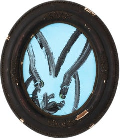 Hunt Slonem Untitled Blue Bunny