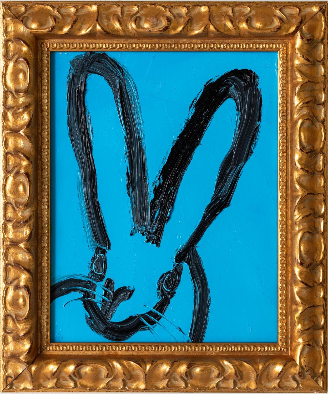 """Hunt Slonem """"Untitled"""" Blue Bunny"""