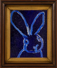 Hunt Slonem Untitled Blue Diamond Dust Bunny