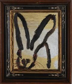 Hunt Slonem Untitled Gold & Silver Metallic Bunny