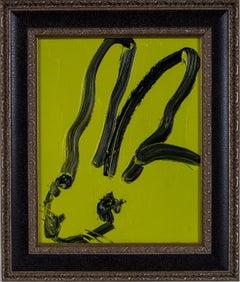Hunt Slonem Untitled Green Bunny