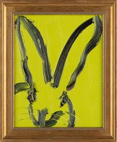 Hunt Slonem Untitled Light Green Bunny