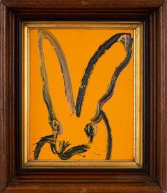Hunt Slonem Untitled Orange Bunny