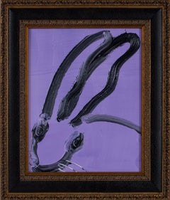 "Hunt Slonem ""Untitled"" Purple Bunny"