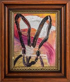 "Hunt Slonem ""Untitled"" Rainbow Metallic Bunny"