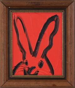 Hunt Slonem Untitled Red Bunny