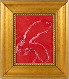 "Hunt Slonem ""Valentine"" Red Bunny"
