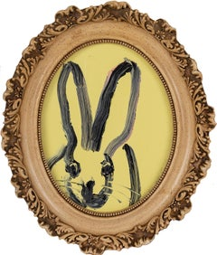 "Hunt Slonem ""Weds"" Yellow Oval Bunny"
