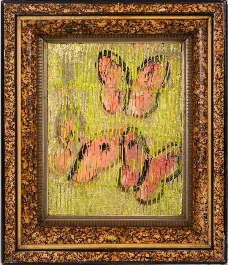 "Hunt Slonem Animal Painting - Hunt Sonem ""Coppers"" Butterflies"
