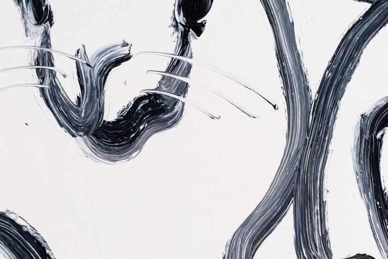 Hutch Mon 2 - Gray Animal Painting by Hunt Slonem
