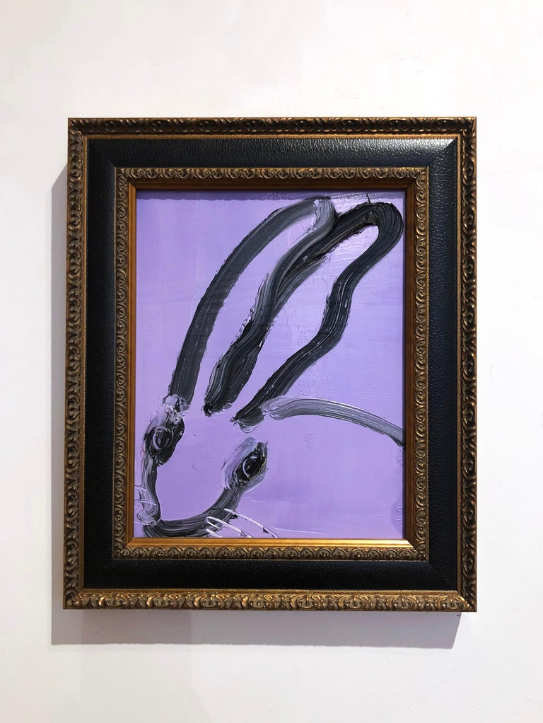 Iris Bunny - Painting by Hunt Slonem