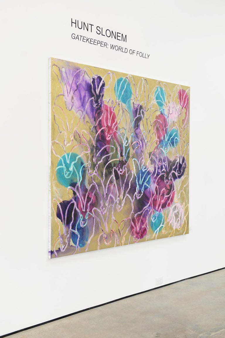 Lavendar Twist (New Line )  - Neo-Expressionist Painting by Hunt Slonem