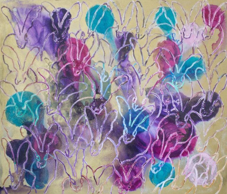 Hunt Slonem Animal Painting - Lavendar Twist (New Line )