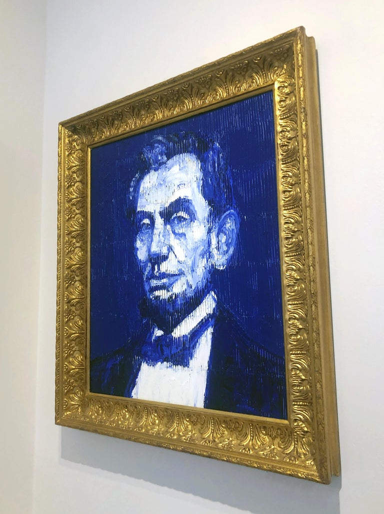 Lincoln - Contemporary Painting by Hunt Slonem