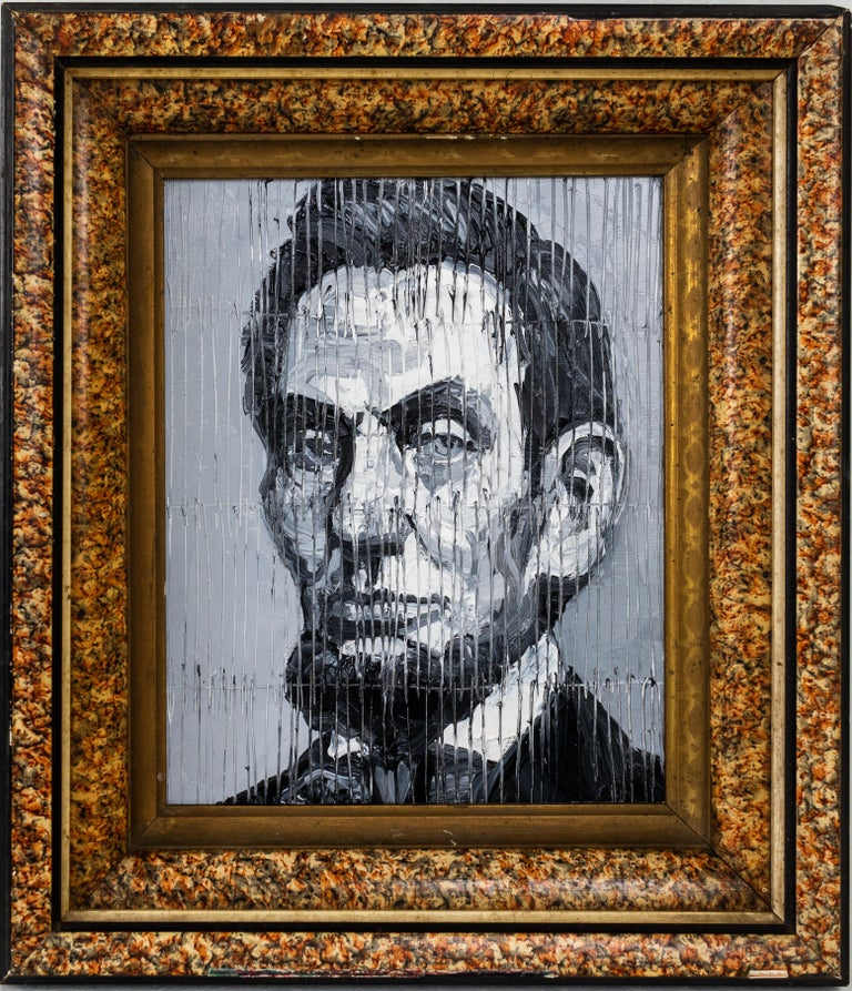 Lincoln - Painting by Hunt Slonem