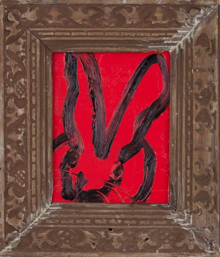 "Hunt Slonem Animal Painting - ""Little Red"""