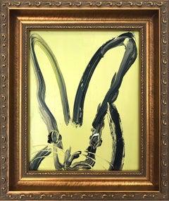 """May 5 Cinco De Mayo"" (Bunny on Pistachio Green)"" Oil Painting on Wood Panel"