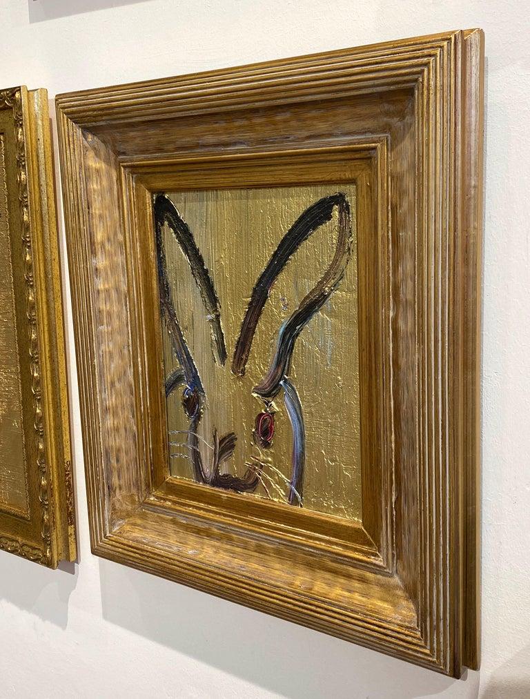 Artist:  Slonem, Hunt Title:  Metal Mine Series:  Bunnies Date:  2020 Medium:  Oil on panel Unframed Dimensions:  10