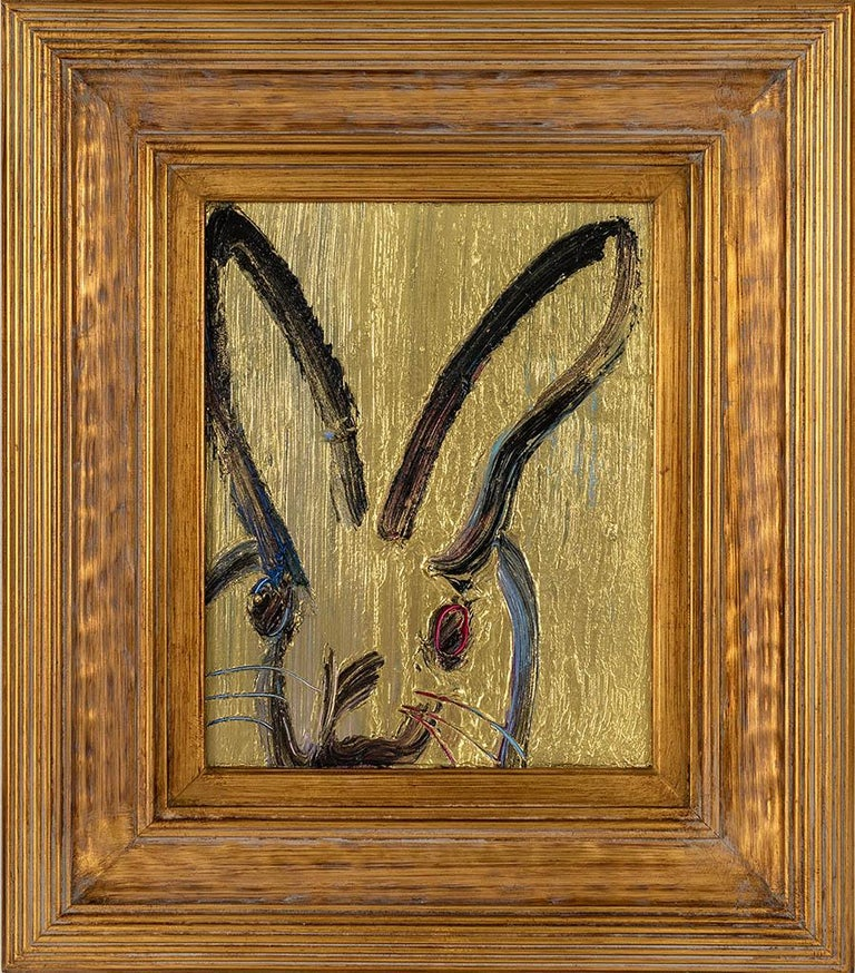 Metal Mine (bunny) - Painting by Hunt Slonem