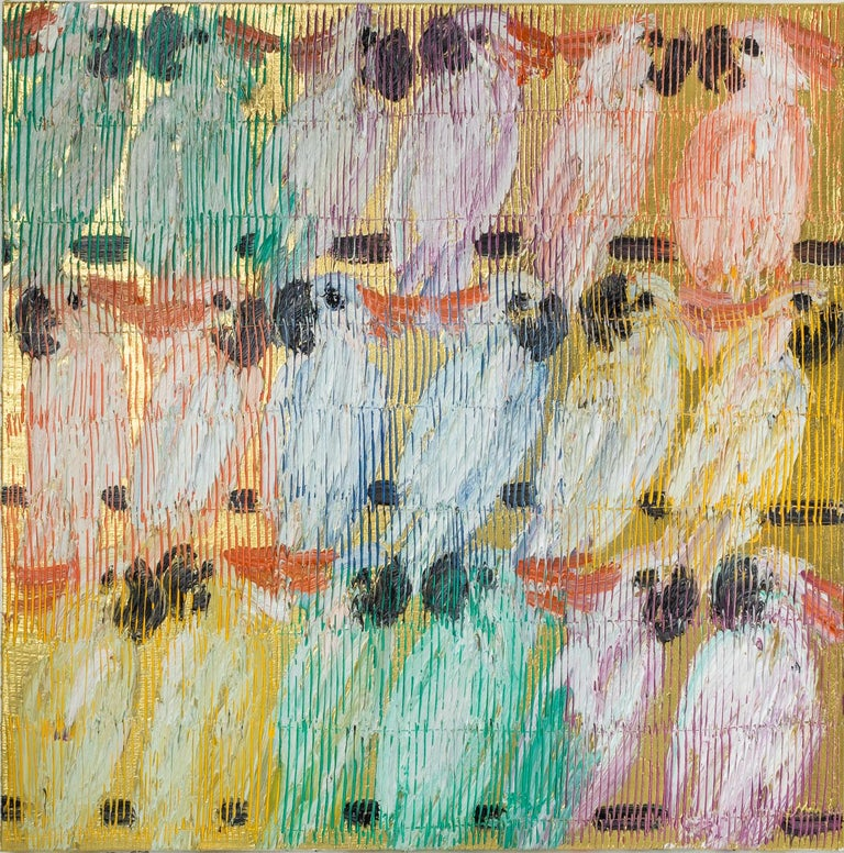 Hunt Slonem Animal Painting - Moluccans Bitty