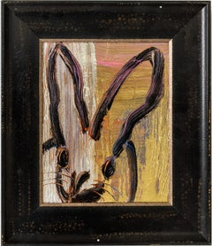"""""""New Metals"""" (Black Bunny on Gold Silver and Multi Color Background)"""