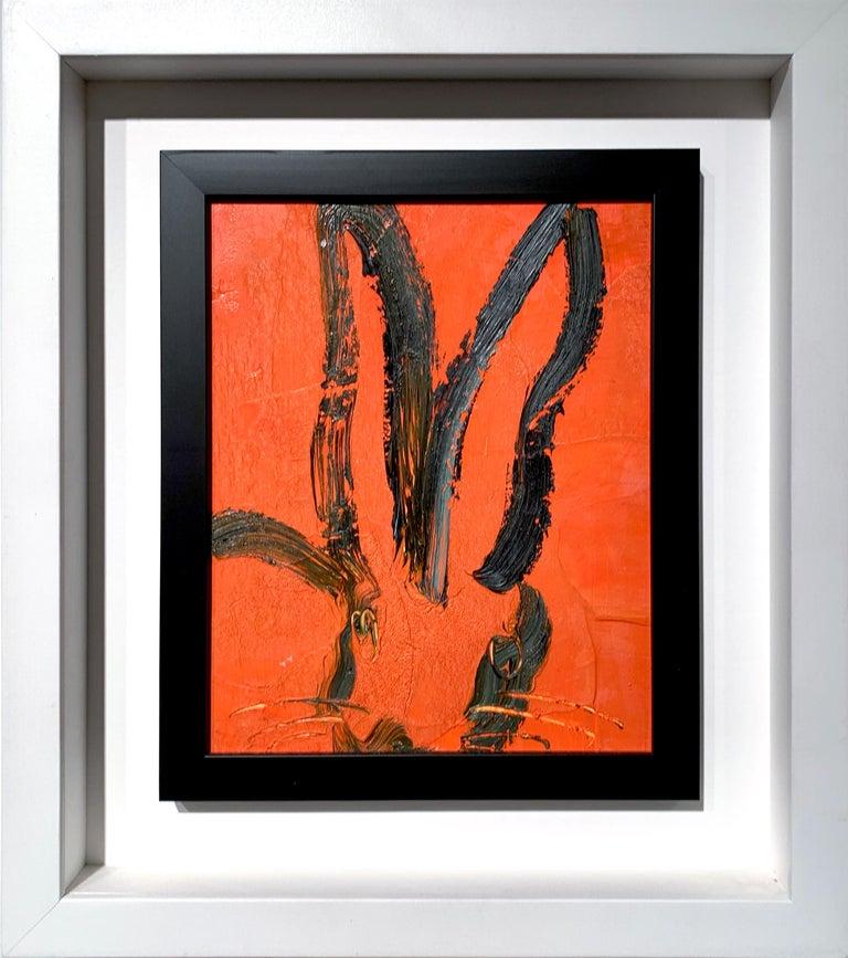 Hunt Slonem Animal Painting - Orange Bunny
