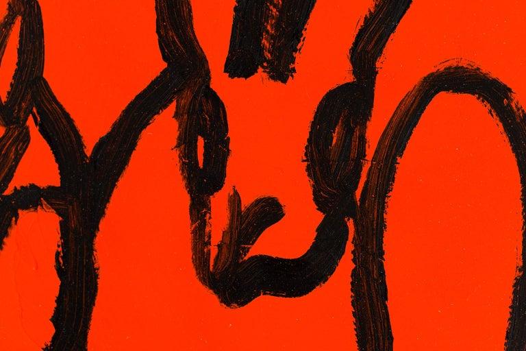 Orange - Neo-Expressionist Painting by Hunt Slonem