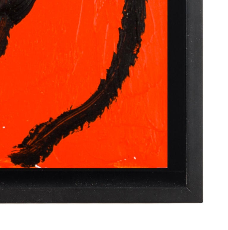 Orange - Red Animal Painting by Hunt Slonem