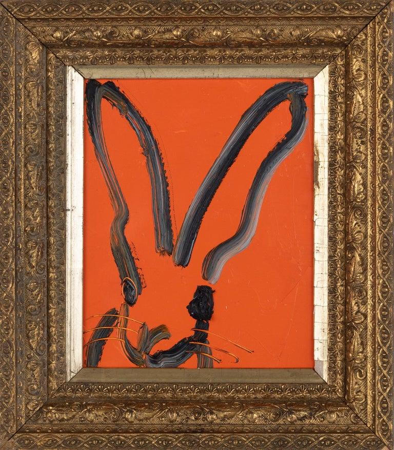 "Hunt Slonem Animal Painting - ""Orange"""