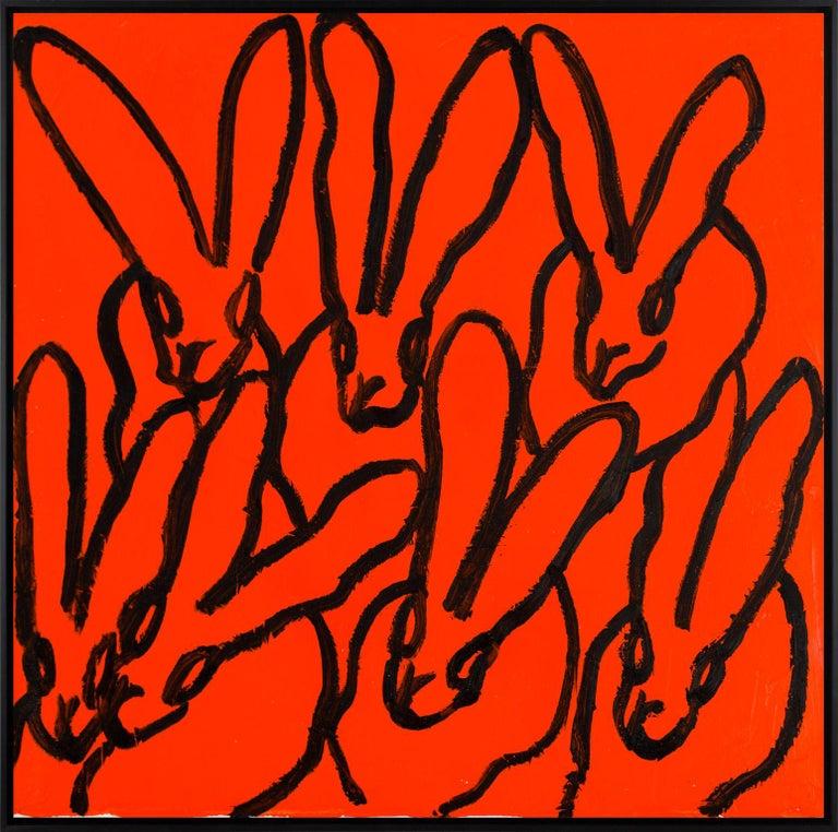 Hunt Slonem Animal Painting - Orange