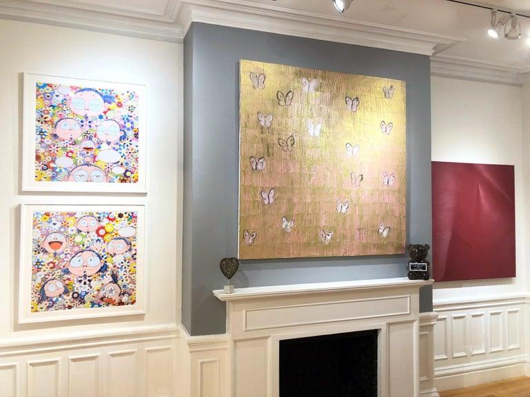 Artist:  Slonem, Hunt Title:  Pink & Gold Butterflies Series:  Butterflies Date:  2018 Medium:  Oil on canvas Unframed Dimensions:  60