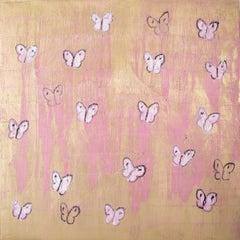 Pink & Gold Butterflies