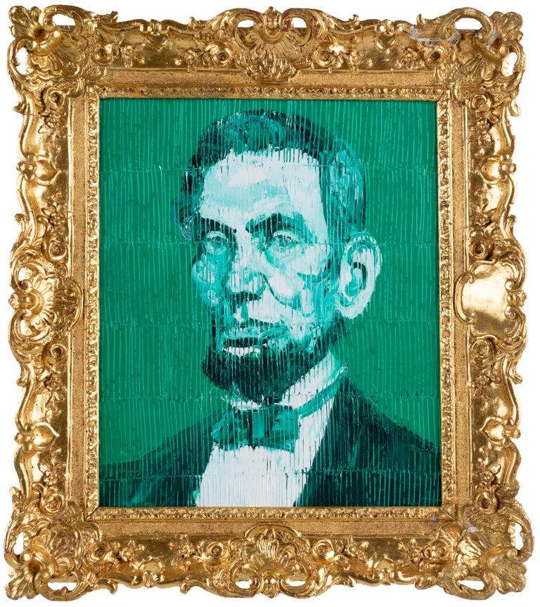 Hunt Slonem Animal Painting - Pres Abraham Lincoln