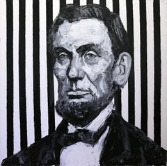 """Pres. Lincoln"" Oil Painting on Canvas"