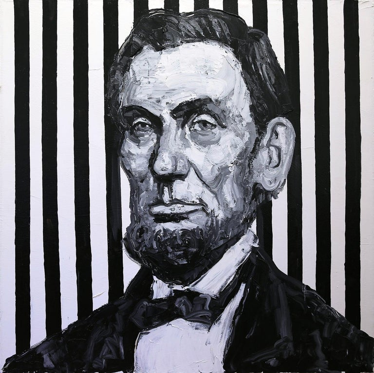Hunt Slonem Portrait Painting - Pres. Lincoln