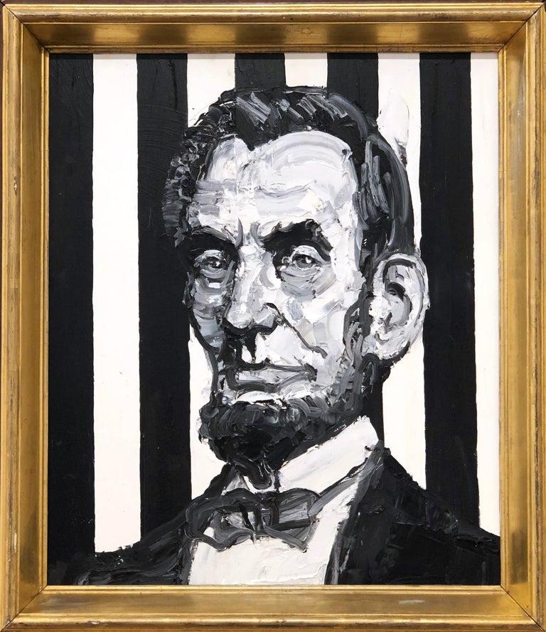 President Abraham Lincoln - Painting by Hunt Slonem