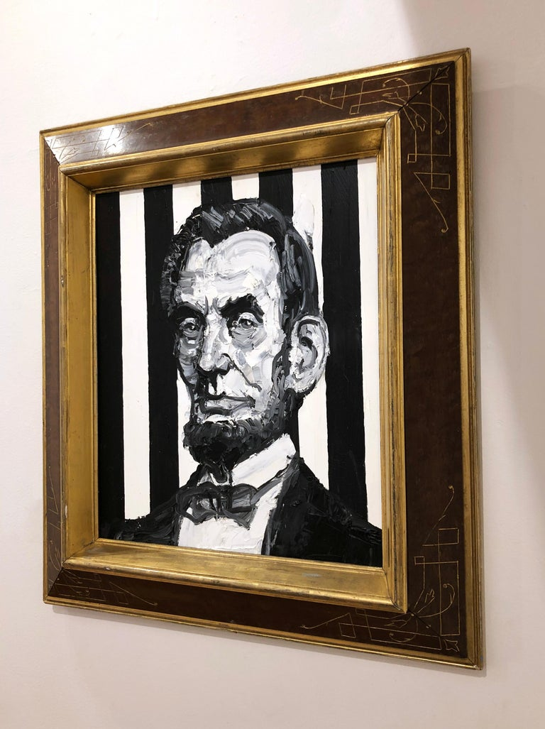 President Abraham Lincoln - Contemporary Painting by Hunt Slonem