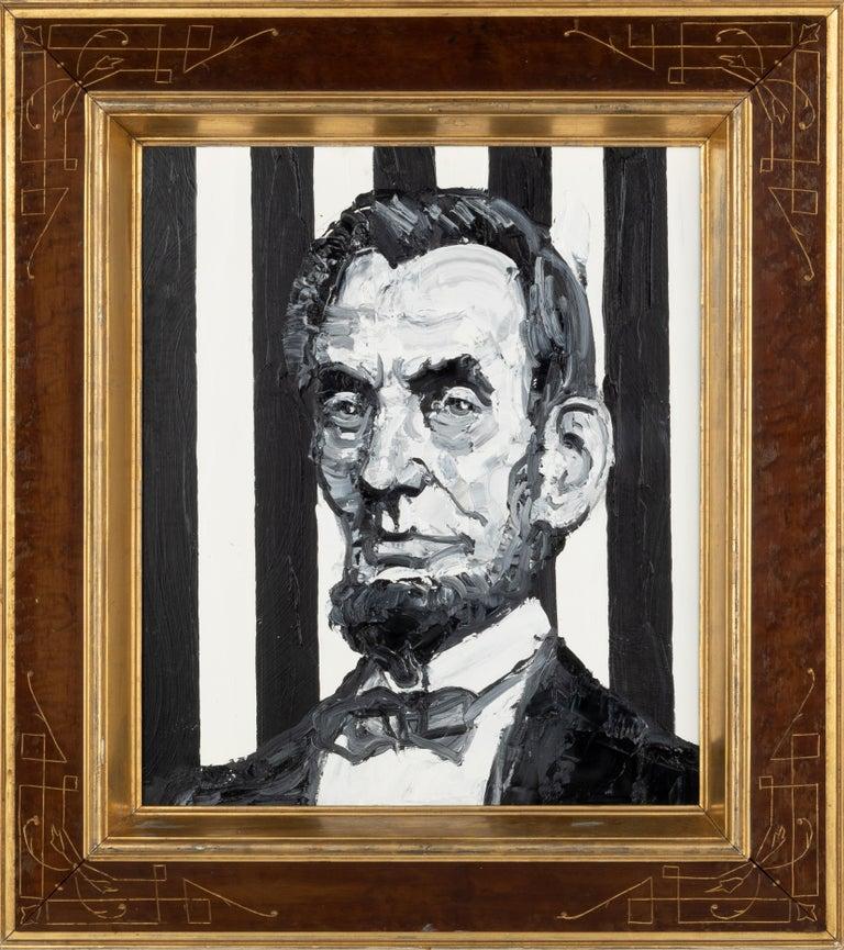 Hunt Slonem Animal Painting - President Abraham Lincoln