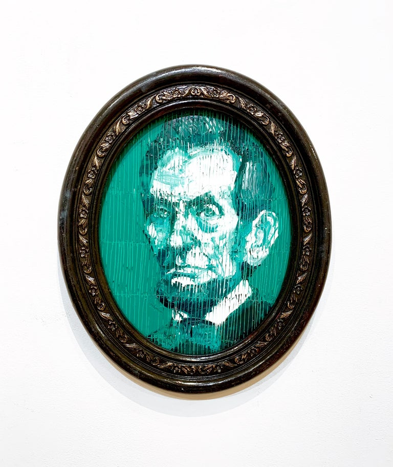 President Lincoln - Contemporary Painting by Hunt Slonem