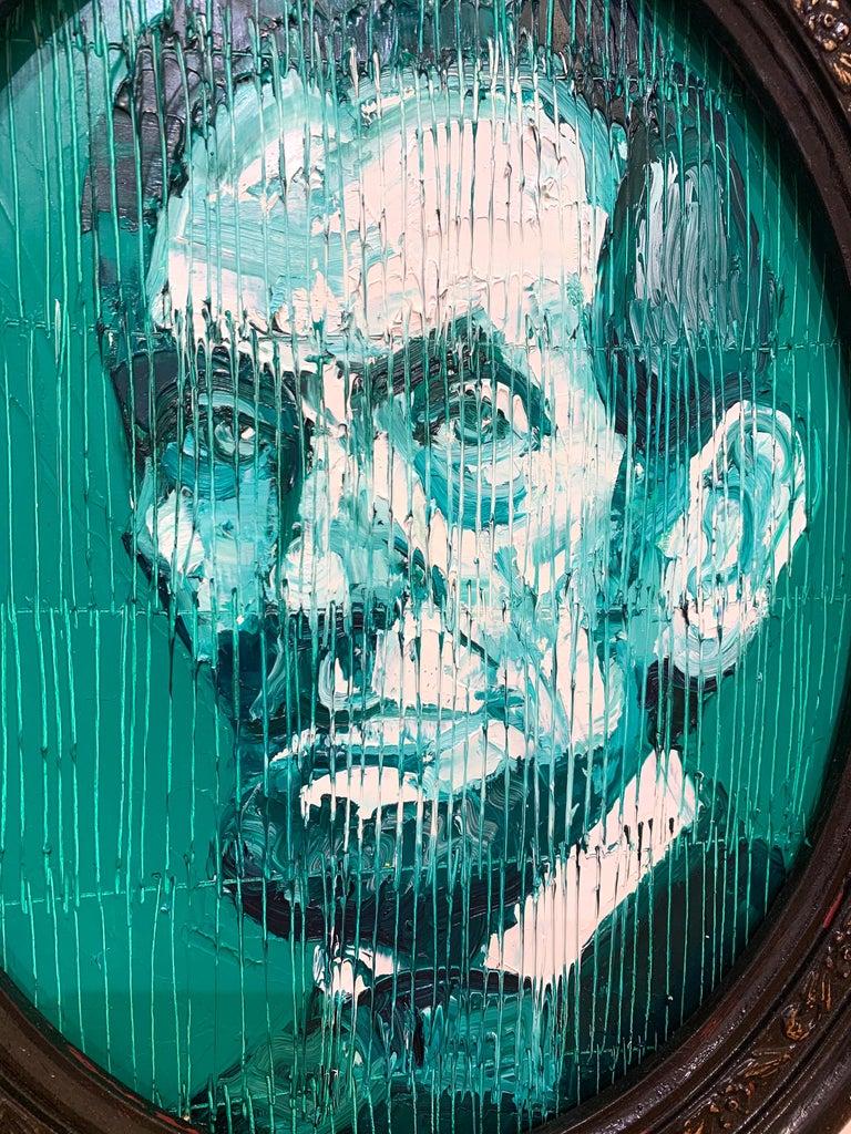 Artist:  Slonem, Hunt Title:  President Lincoln Date:  2020 Medium:  Oil on panel Unframed Dimensions:  10 x 8