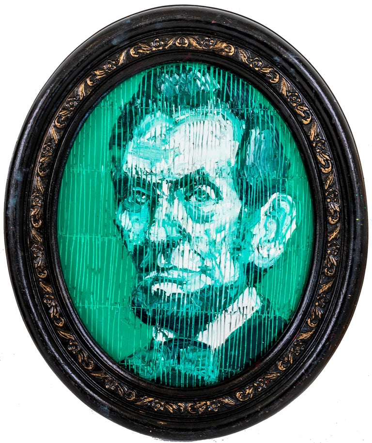 President Lincoln - Painting by Hunt Slonem