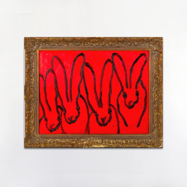 RED FOREPLAY - Painting by Hunt Slonem