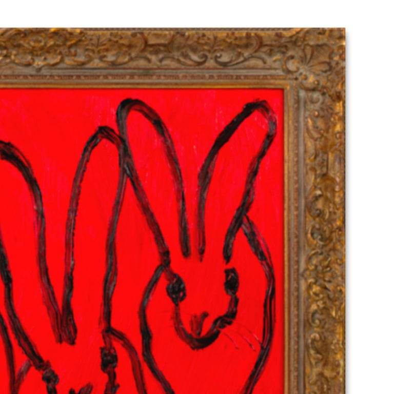 RED FOREPLAY - Contemporary Painting by Hunt Slonem